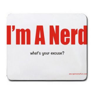I'm A Nerd what's your excuse? Mousepad [Office Product] - Excuse Pad