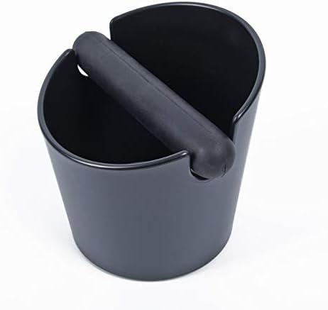 Fssh-mlx コーヒーハンドルスラグバケットエスプレッソ磨くタンパー廃ビンブラックでボックスをノック (色 : Black)