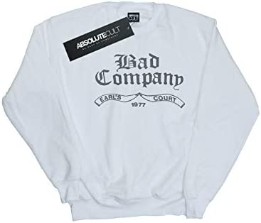 Absolute Cult Bad Company Herren Earl's Court 1977 Sweatshirt Weiß Large