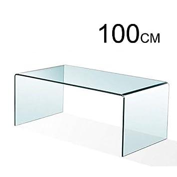 Mesa de Centro, Cristal Curvado, 100 x 48 x 43 cm (Medida Exclusiva)
