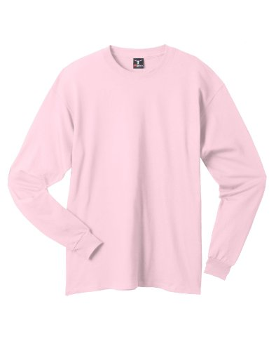 Hanes 6.1 OZ. Long-Sleeve Beefy-T (5186)- Pale Pink,M