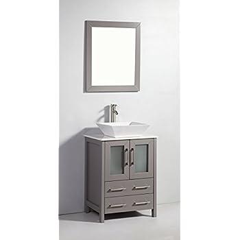 Vanity Art 24 inch Single Sink Bathroom Vanity Set with