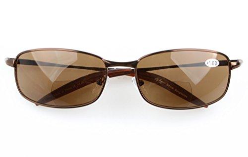 Marron 1 Lente Gafas Bifocales gris 75 de sol Eyekepper 006 Clásico XvFwnq00S