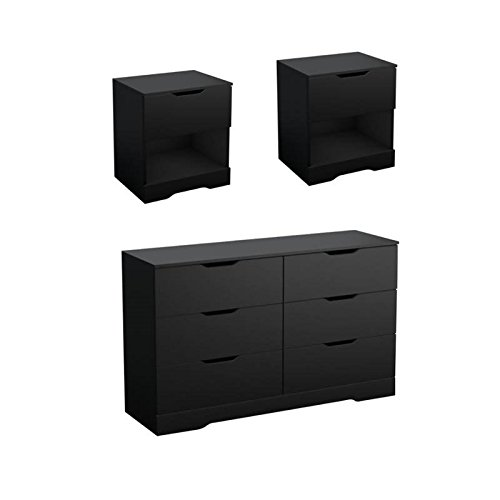 Home Square 3 Piece Bedroom Set with Dresser and Set of 2 Ni