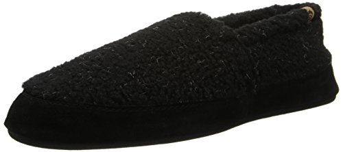 Textured Moc (ACORN Men's MOC Slip-On Loafer, Black Berber, Small/7.5-8.5 M)