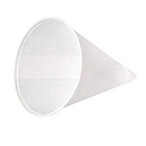 OKSLO 45kp 4.5 oz rolled-rim paper cone cups - white, 5000 cups model x1764