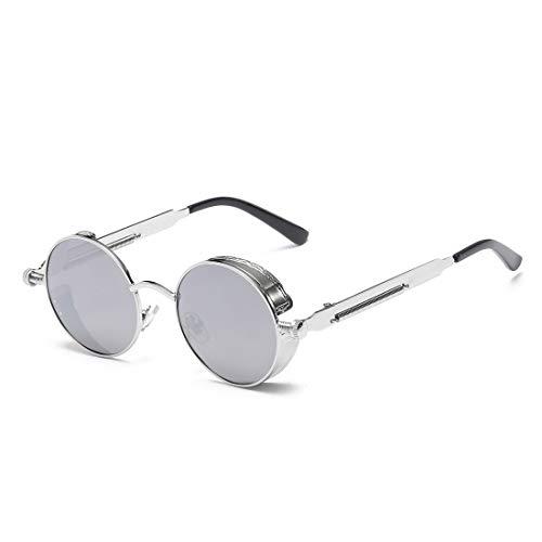 Silver Femmes À Silver Lunettes Lens Frame en Rétro Frame Silver Lunettes Silver de Lens TLMY De Monture Soleil Plastique Couleur Soleil q8tZTt
