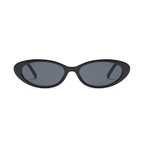 las de la los hombres los ovales de Yefree marcos Gris de los vendimia gafas mujeres de de pequeñas Oscuro Gafas hombres de sol AwqAg60