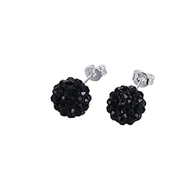 Top Surgical Stainless Steel Pave Crystal Disco Ball Shambala Studs Earrings Girls- Women Cubic Zirconia Hypoallergenic Earrings for cheap