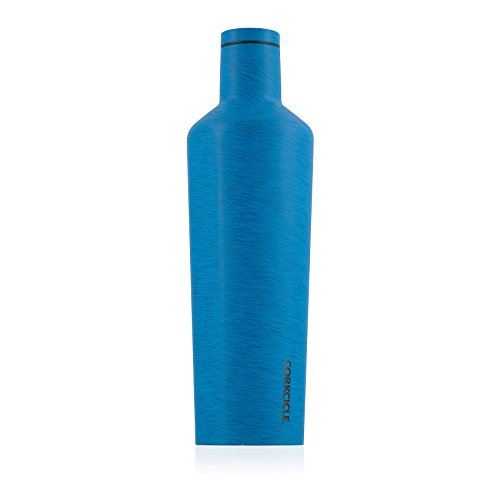 Corkcicle Canteen Heathered Collection-Water Bottle & Thermos-Triple Insulated Shatterproof Stainless Steel, Heathered Navy, 25 oz