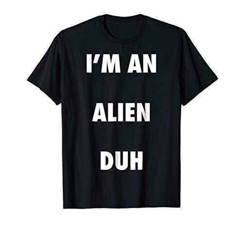 (Easy Halloween Alien Costume Shirt for Men Women)