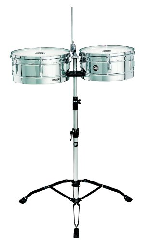 (Meinl Percussion HT1314CH Headliner Series Steel Timbales With Chrome Finish and Stand)