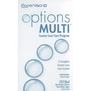 Options Multi Contact Lens Care Program 3x250ml (3 Months Supply) by Cooper (Coopervision Lenses)