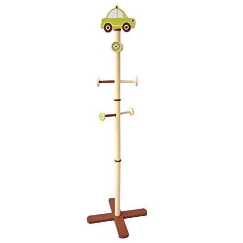 Amazon.com: NingNing NN Coat Rack-car Type Solid Wood Floor ...
