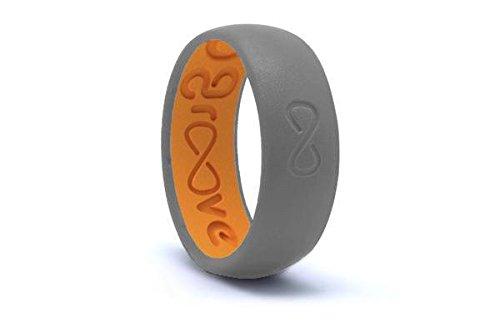 Design Comfort Fit Wedding Ring (Groove Rings Silicone Elastomer Wedding Rings, Breathable, Comfort Fit, 2 Part Design, Funded on Kickstarter)