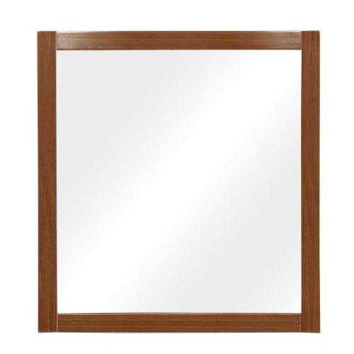 (DECOLAV 9712-MWN Gavin 30-Inch Wall Mirror, Medium Walnut)