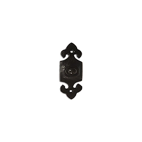 RCH Hardware Fancy Decorative Wrought Iron Bell Push, Black Matching (Iron Doorbell)