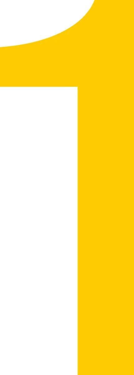 Boote M/ülltone Ziffer 1-12cm Basteln signalgelb Kennzeichen Haust/ür ShirtInStyle Zahlen selbsklebende Aufkleber von 2-20cm H/öhe Nummern