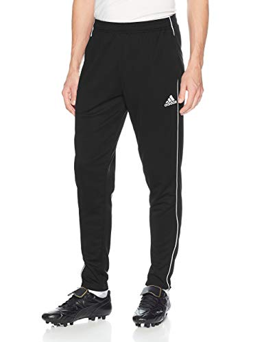 adidas Men's Core 18 Training Pant, Black/White, Medium