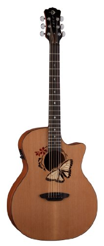 Luna Oracle Series Butterfly Grand Concert Acoustic-Electric Guitar (Grand Concert Acoustic Guitar)