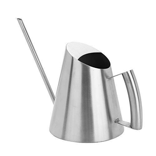 Watering Can, FUBARBAR Water Can Flower Pot for Kids House Indoor Outdoor Plants Stainless Steel Long Spout Modern Style, 34 oz/ 1000ml/ 0.26 Gallon by FUBARBAR FUNNY PLACE TO STAY