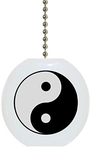 Yin Yang Solid Ceramic Fan Pull ()