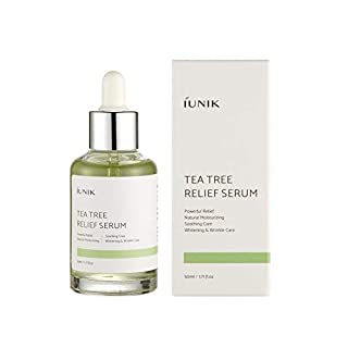IUNIK Ta Tee Relief Serum with natural ingredients with tea tree & Centella & 6 sprout extract - Calm + Moisturizing + Skin trail Relief at once - 1.71 OZ