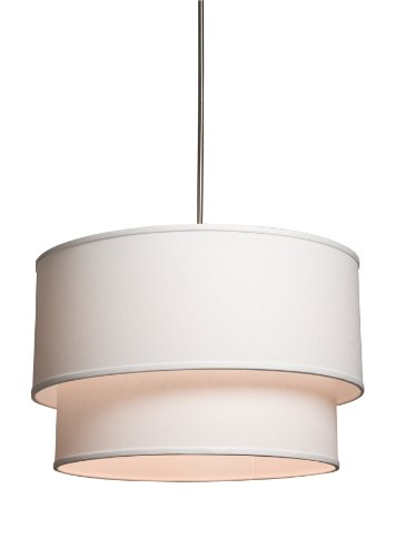 Artcraft Lighting Mercer Street Small Round Chandelier, Oat Meal with Oatmeal Linen Shade