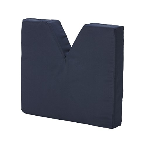 DMI Comfort Contoured Foam Coccyx Seat Cushion for Sciatica Back Pain with Supportive Hard Board Removable Insert for Chair or Wheelchair , Navy