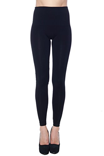 A+D Womens Soft Full Length Wide Waist Band Modal Knit Leggings
