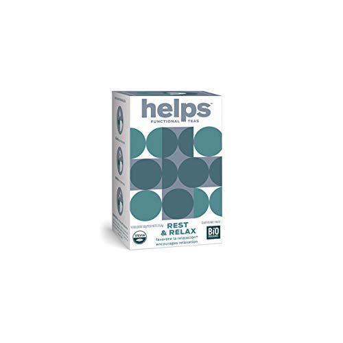 HELPS INFUSIONES - Infusion Relajante Con Melisa, Pasiflora Y Stevia Te Relax Que Combate La Ansiedad Para Descansar Mejor Caja De 16 Bolsitas