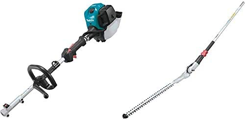 Makita EX2650LH 25.4 cc MM4 4-Stroke Couple Shaft Power Head and EN401MP 20 Articulating Hedge Trimmer Couple Shaft Attachment