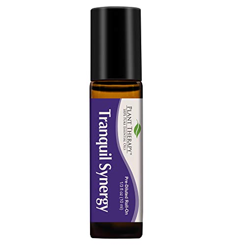 Plant Therapy Essential Oil | Tranquil Synergy Blend | Stress Relief, Sleep, Peace & Calming Blend | 100% Pure, Pre-Diluted Roll-On, Natural Aromatherapy, Therapeutic Grade | 10 milliliter (1/3 oz)