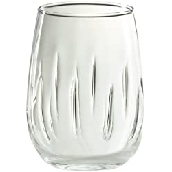 Amici Stemless Aerating Wine Glass, 17 oz - Set of 4