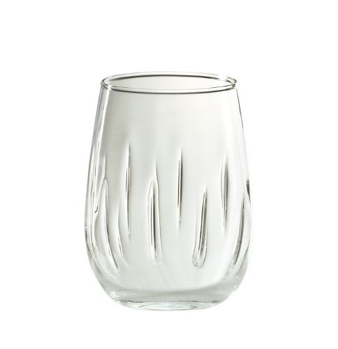 Global Amici Glass - Amici Stemless Aerating Wine Glass, 17 oz - Set of 4