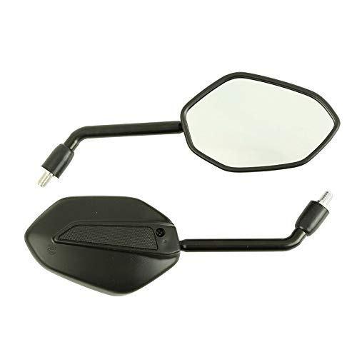 StoreDavid - Universal 10mm Motorcycle Right Left Side Back Mirror Assy Scooter E-Bike Rearview Right/Left Hand Thread OEM for HONDA
