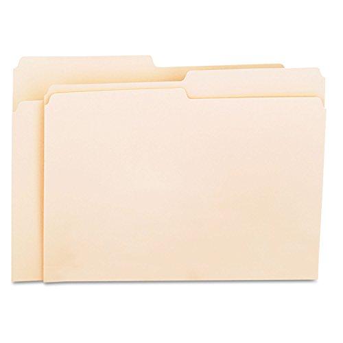 Universal 12112 File Folders, 1/2 Cut 1-Ply Top Tab, Letter, Manila, 100/Box
