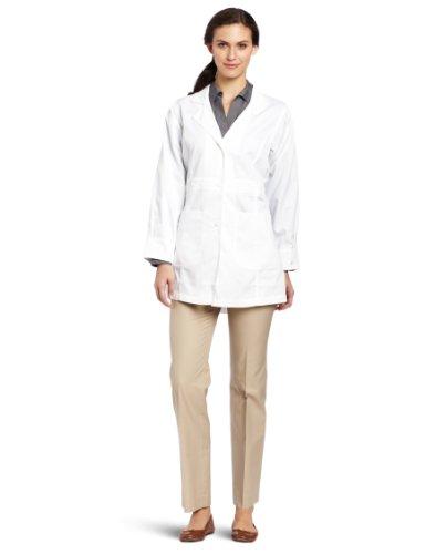 Carhartt Women's Scrubs Long  Coat, White, 3X-Large