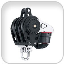 Harken, 75mm Triple Carbo Ratchamatic Block w/Cam &