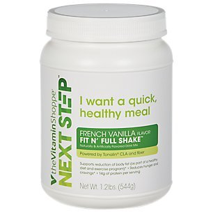 Next Step Fit N Full Shake French Vanilla Protein Powder Supports Reduction of Body Fat Cravings, 14g of Protein per Serving (1.2 Pound)