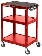 Steel Audio Visual Instrument Cart Red