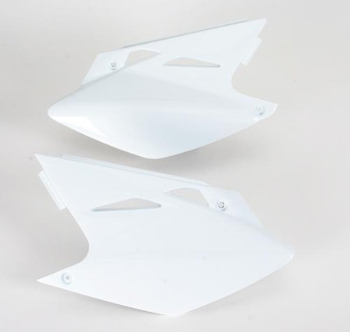 Ufo Side Panels - UFO Plastics Side Panels White for Kawasaki KX 450F 06-08