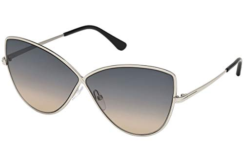 Tom Ford ELISE-02 FT0569 16B Women Silver Metal Infinity Butterfly ()