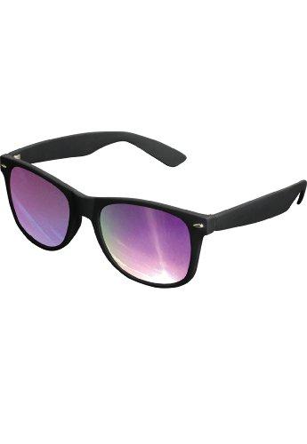 Hochwertige verspiegelte Herren Sonnenbrille Likoma Mirror in black/orange mit gummierter Oberfläche + 2Store Logo Aufkleber gratis HZrTNrM