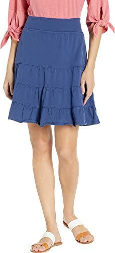 (Fresh Produce Women's Jersey Tiered Skirt Moonlight Blue Medium)