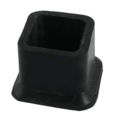 Flyshop Square Anti-Slip Rubber Leg Tips Covers Furniture Protectors 1-1/2 Inch x 1-1/2 Inch (38 x 38mm) Black 10Pcs (For Outdoor Caps Foot Chairs)