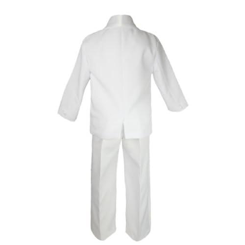 5-7pc Kid White Satin Shawl Lapel Suits Tuxedo FUCHSIA Bow Necktie Vest Sm-20