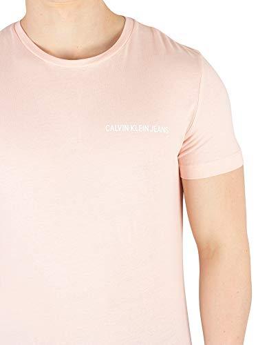 636 Chest Mod Rosa J30j307852 Ss Klein Slim Tee shirt Uomo Calvin T PzCWXqxv