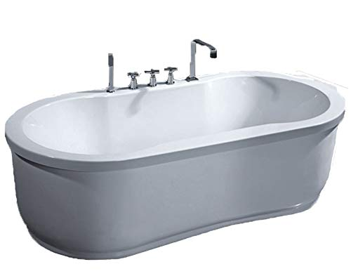 MCP Jetted Tubs Freestanding Jetted Massage Hydrotherapy Bathtub