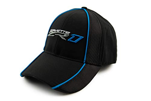 High-End Motorsports ZR1 Black Carbon Fiber Hat Cap for C7 Corvette ZR1 - Embroidered ZR1 Logo, Blue